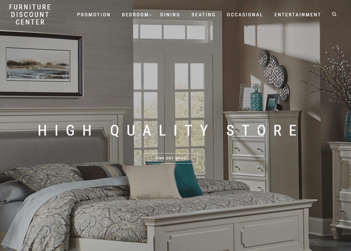 web design Houston screenshot furniture